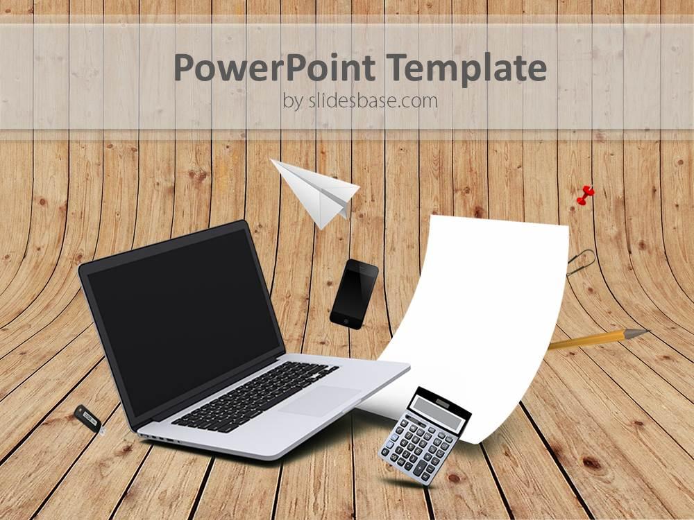 Working Online 3D PowerPoint Template Slidesbase - office powerpoint template