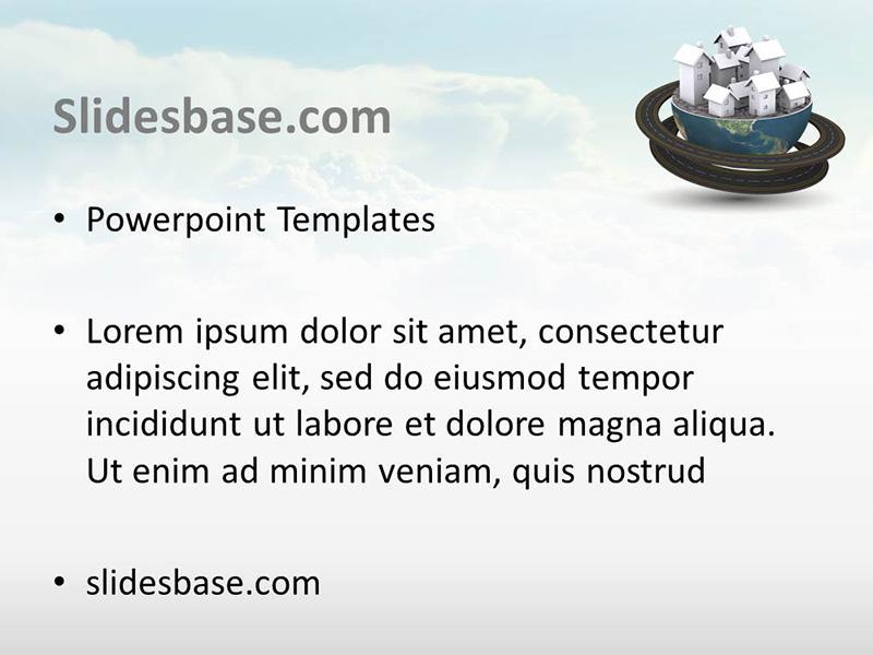 Global Village 3D \u2013 PowerPoint Template Slidesbase - global powerpoint template