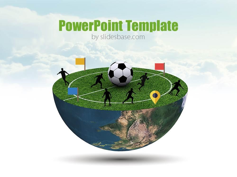 Football Planet PowerPoint Template Slidesbase - football powerpoint template