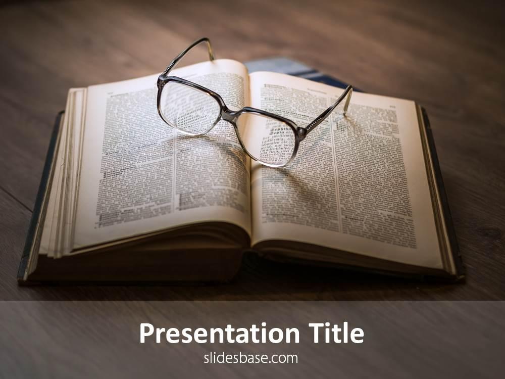 Books  Reading PowerPoint Template Slidesbase
