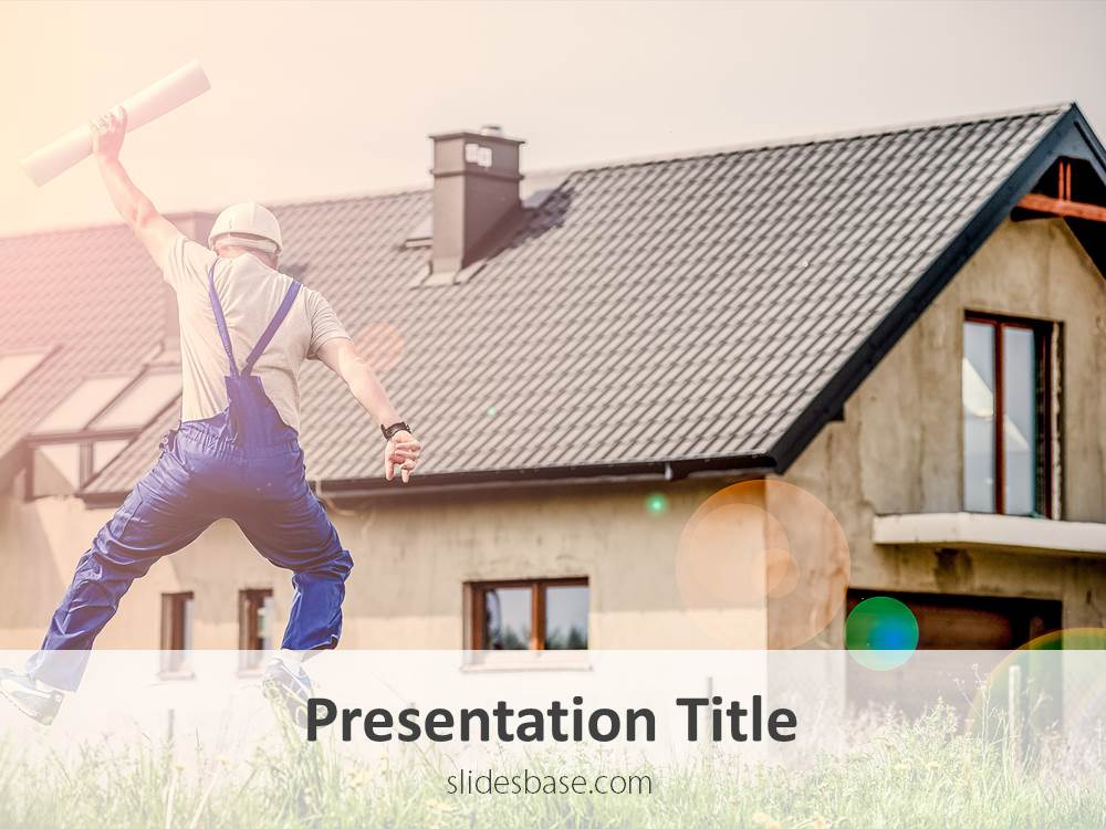 House Construction PowerPoint Template Slidesbase