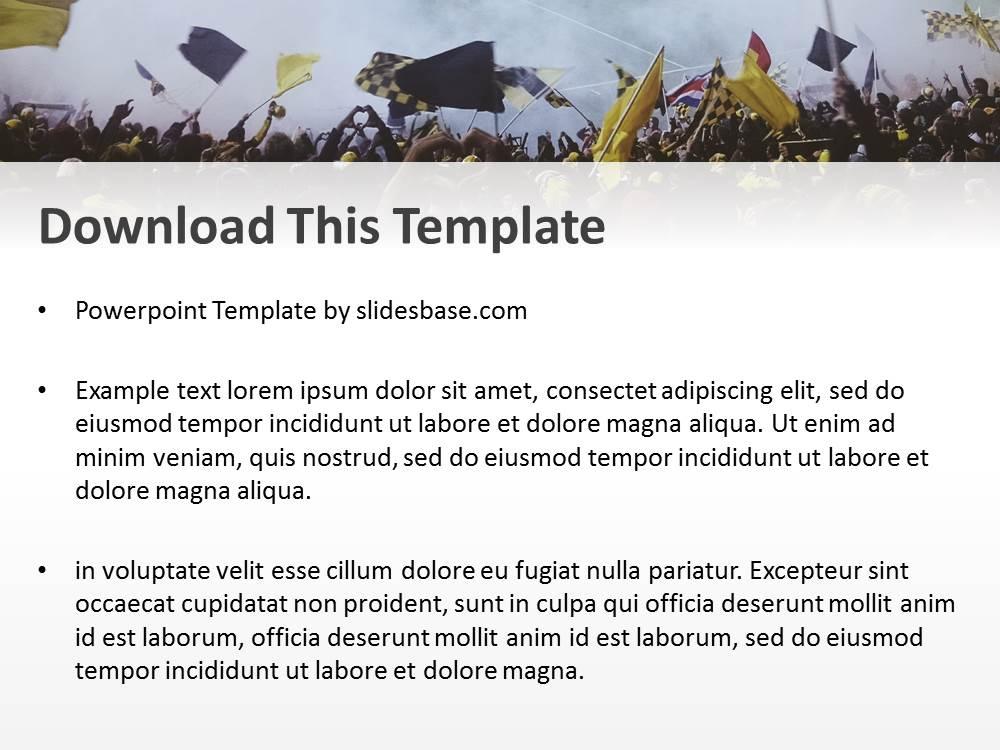Soccer Crowd PowerPoint Template Slidesbase