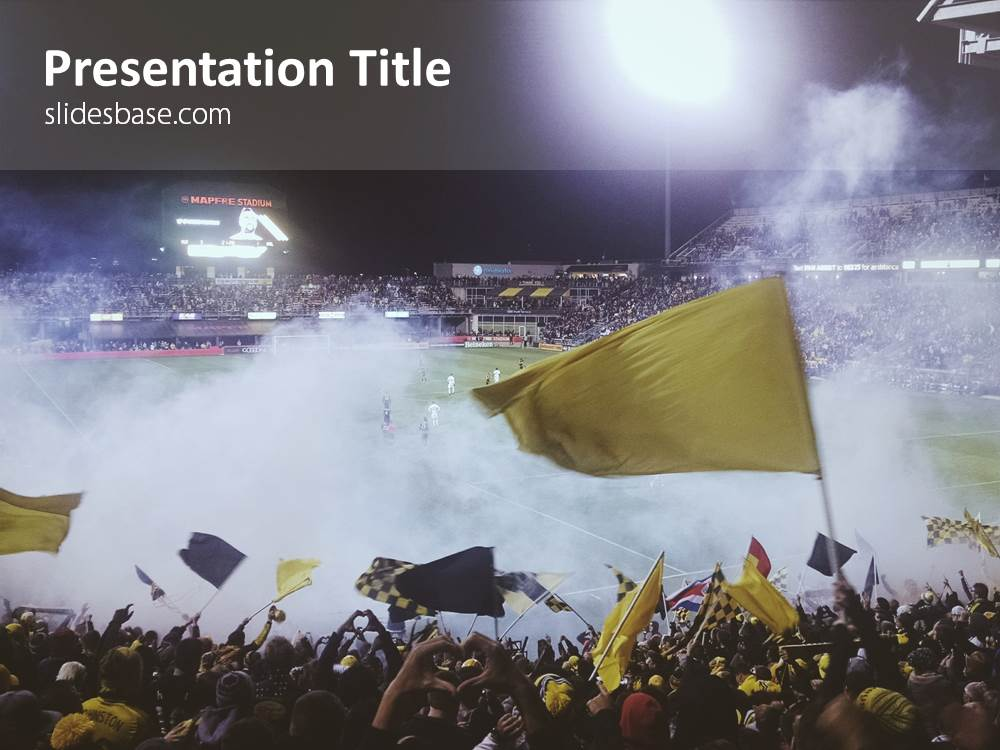 Soccer Crowd PowerPoint Template Slidesbase