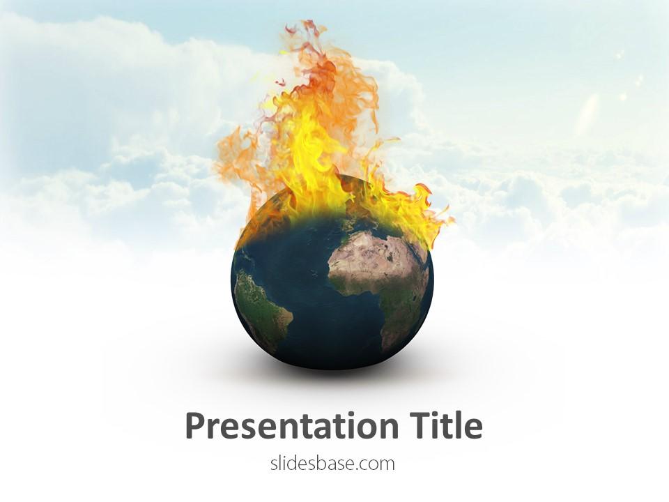 Global Warming PowerPoint Template Slidesbase - global powerpoint template