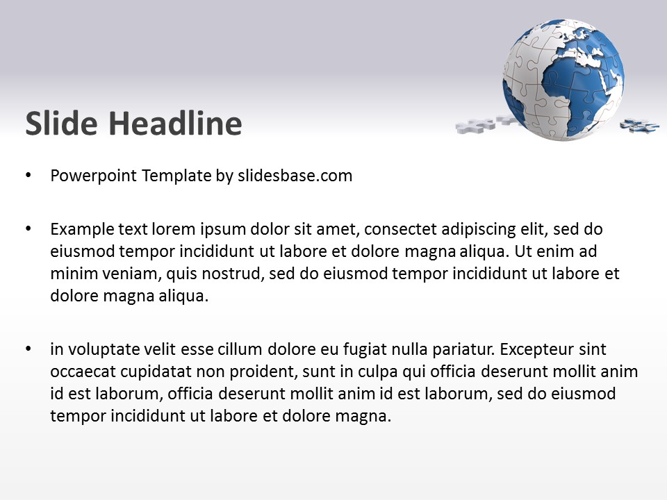 World Puzzle PowerPoint Template Slidesbase - puzzle powerpoint template
