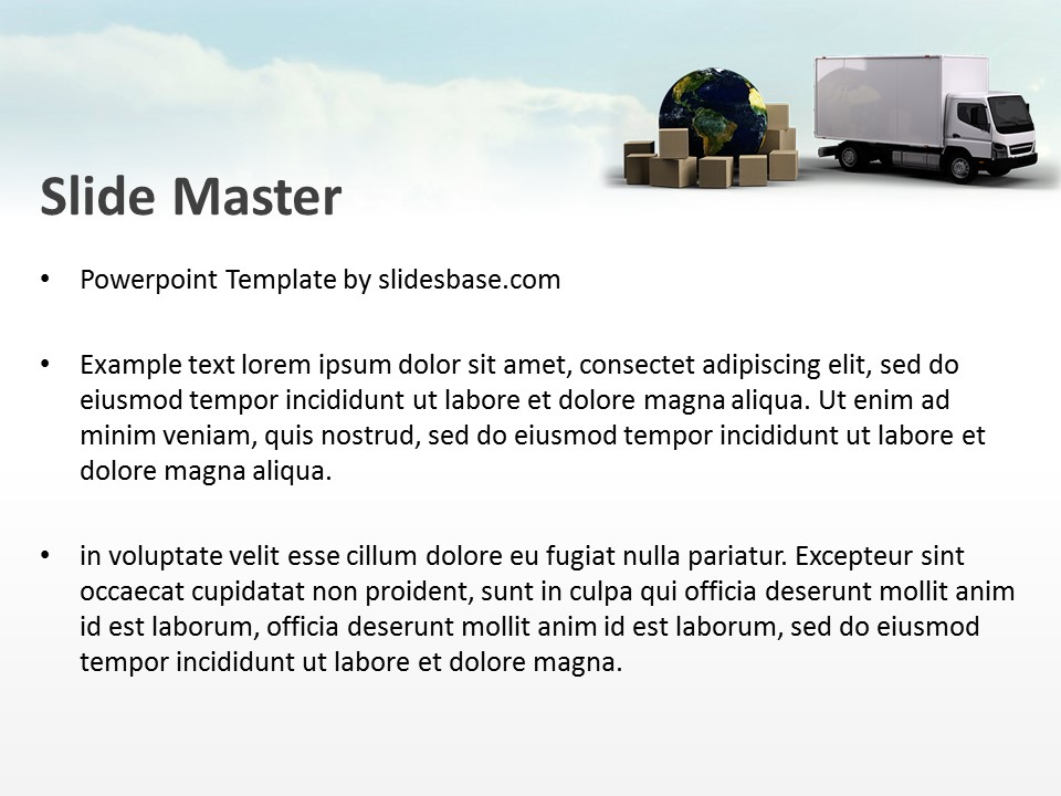 Global Transport PowerPoint Template Slidesbase - global powerpoint template
