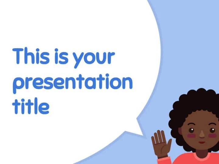 Free cute and playful Powerpoint template or Google Slides theme