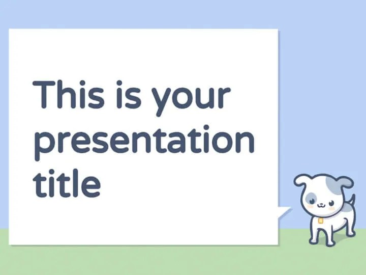 Free Powerpoint template or Google Slides theme with pets
