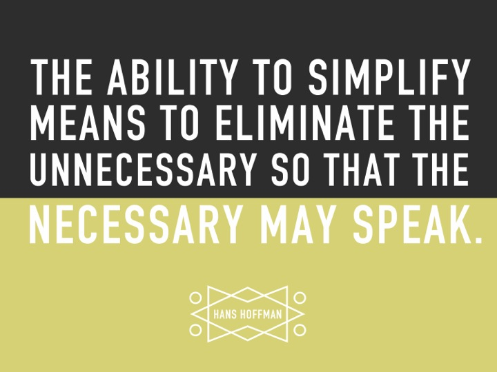 The Art of Simplicity - quote on presentation