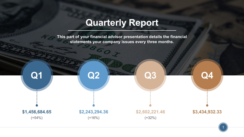 quarterly reports sample