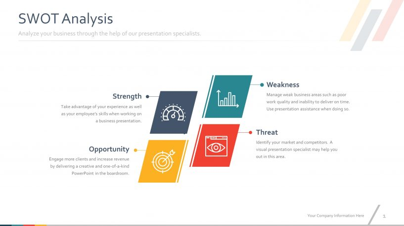 Download Free Colorful SWOT PowerPoint Slides Templates SlideStore