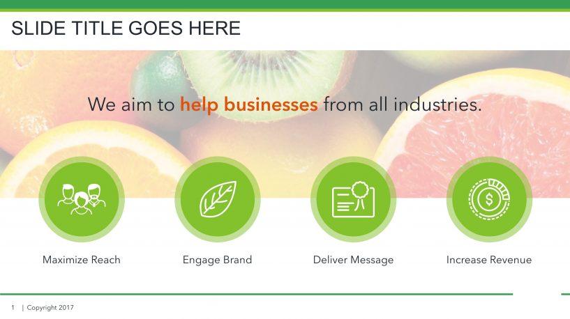 Download Free Food PPT Slide Presentation Templates SlideStore
