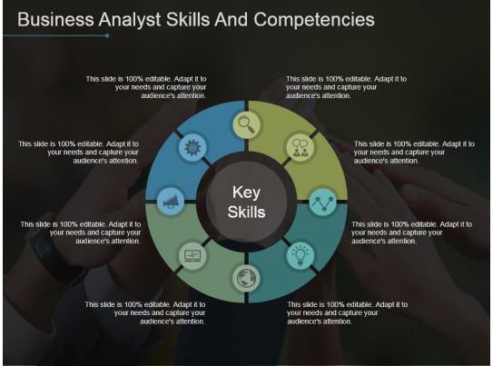 Business Internet Marketing Plan Sales Business Analyst Skills And Competencies Powerpoint