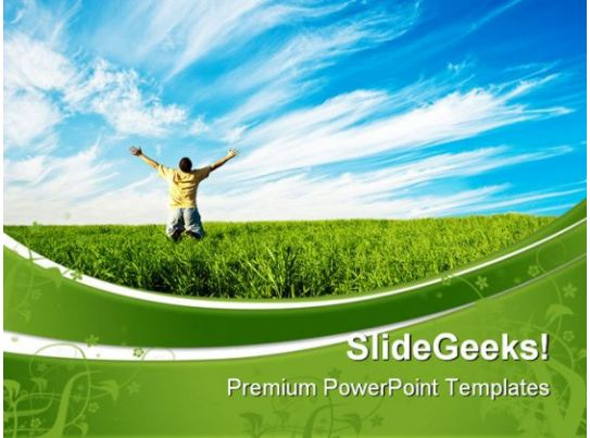 Business Internet Marketing Plan Sales Person Enjoying Freedom Nature Powerpoint Templates And