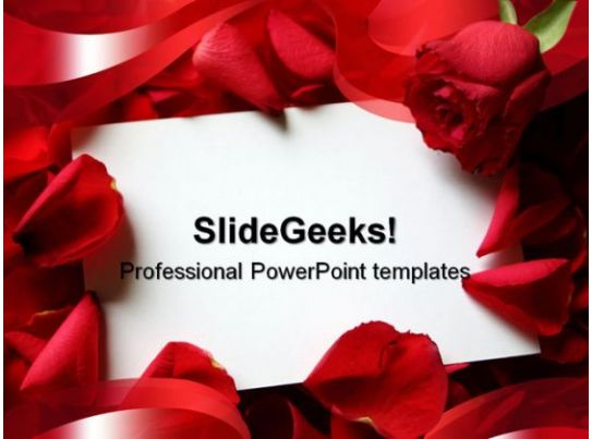 Business Internet Marketing Plan Sales Red Roses Wedding Powerpoint Template 0610 | Templates