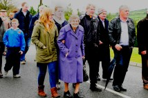 On the walk to the unveiling of Paddy Lowry's plaque