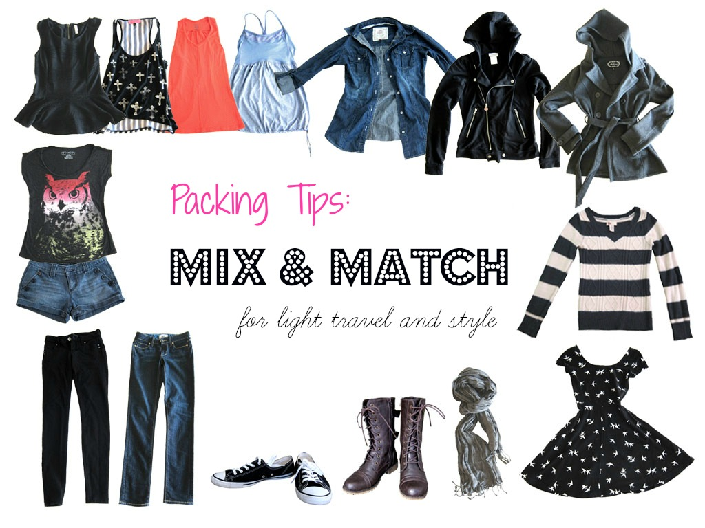 Mix And Match Packing Tips Mix Match For Light Travel And Style Slightly Astray