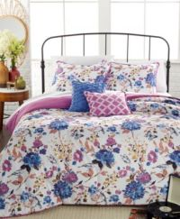 Fabel Floral 4-Pc. Twin Comforter Set - Bed in a Bag - Bed ...