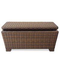 Peconic Wicker Outdoor Storage Coffee Table - Furniture ...