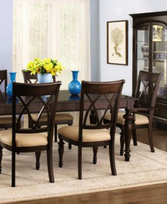 Bradford 7-Piece Dining Room Furniture Set - Furniture - Macyu0027s - 7 piece living room set