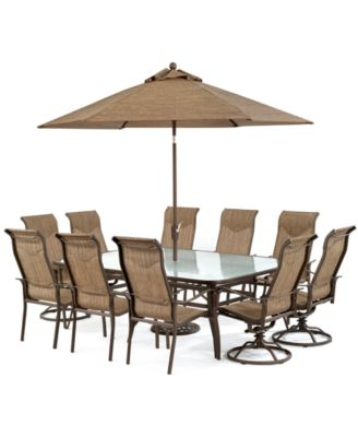 Outdoor Patio Dining Table With Swivel Chairs
