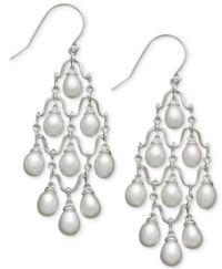 Cultured Freshwater Pearl Chandelier Earrings in Sterling ...