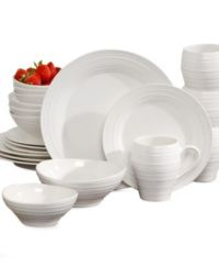 Mikasa Swirl White 20 Piece Set Service for 4 - Dinnerware ...