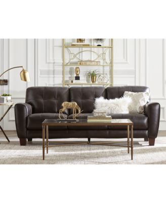 Furniture Kaleb Tufted Leather Sofa Collection Created