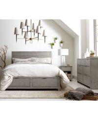 Tribeca Grey Storage Platform Bedroom Furniture Collection