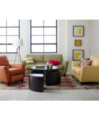 Furniture Almafi Leather Sofa Living Room Furniture ...