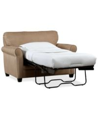 """Kaleigh 55"""" Fabric Sleeper Chair Bed - Furniture - Macy's"""