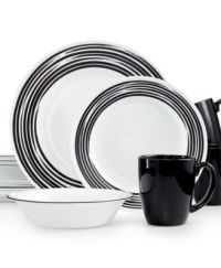 Corelle Brushed Black 16-Pc. Dinnerware Set, Service for 4 ...