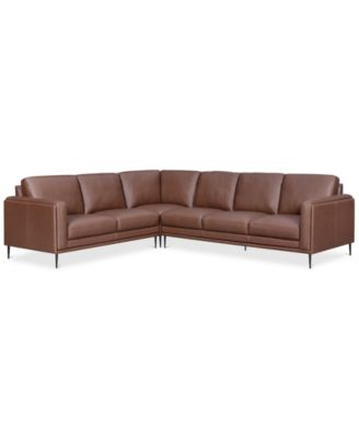 Big Sofa Occasion Furniture Closeout Maida 3 Pc Leather Sectional With Sofa
