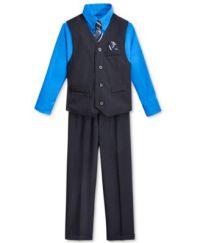 Nautica Little Boys' Stripe Vest, Shirt, Tie & Suiting ...