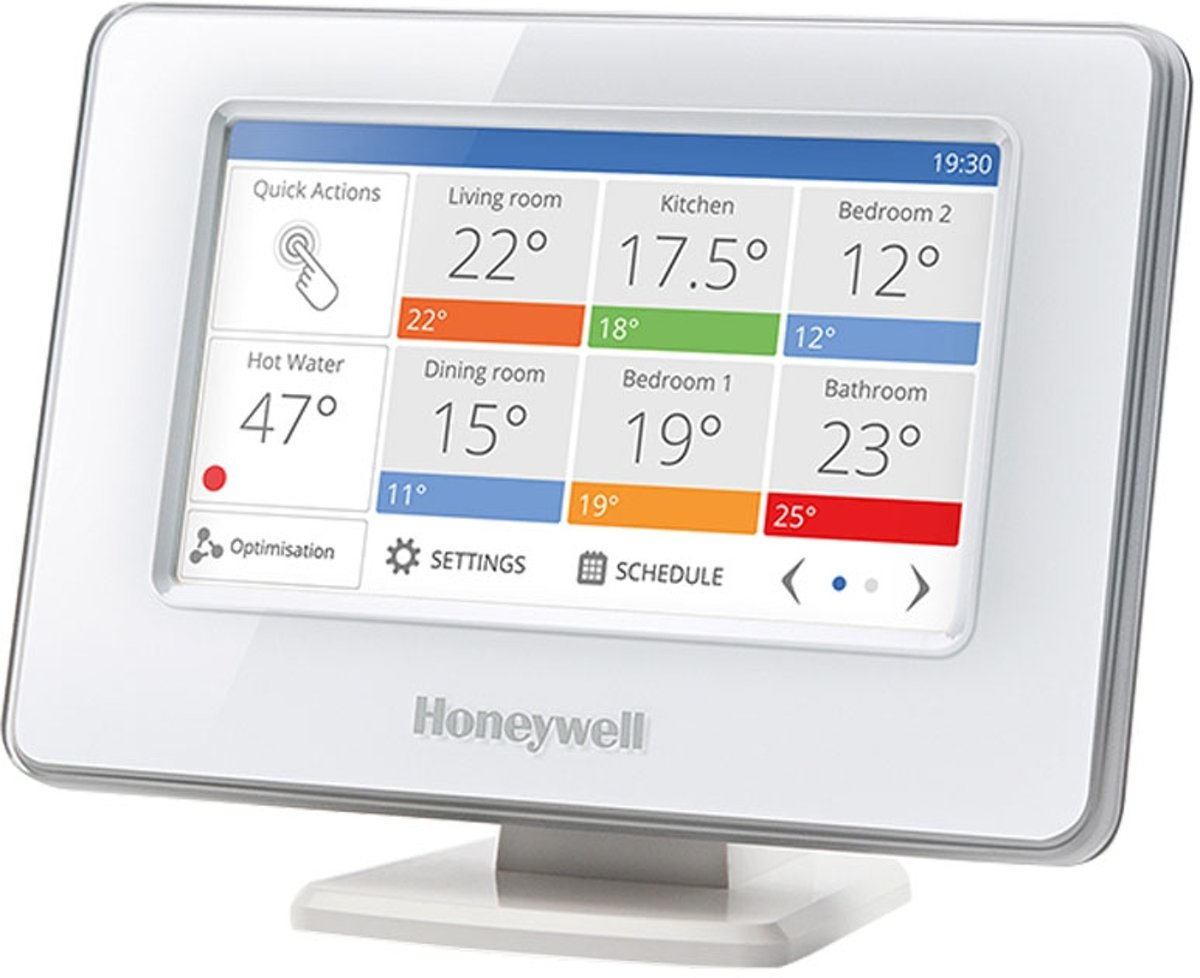 Slimme Thermostaat Wifi Honeywell Evohome Multizone Opentherm Modulerende Slimme Thermostaat Wifi Draadloos