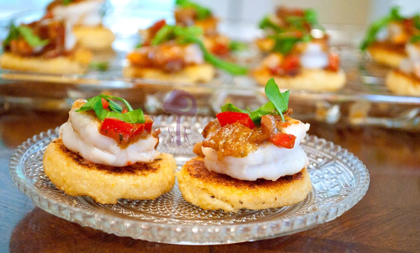 Canapee Charlestonian Lowcountry Shrimp And Grit Canapes With