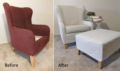 Medium Of Wingback Chair Covers