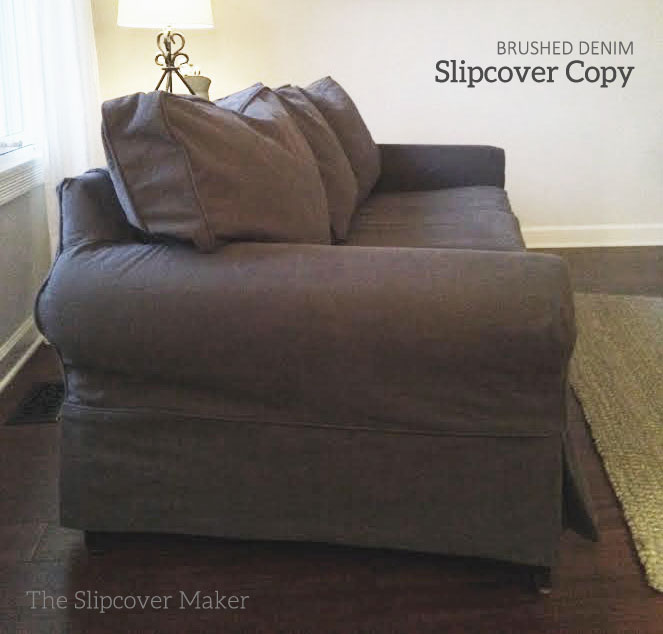 Denim T Cushion Sofa Slipcover Sofa Slipcovers | The Slipcover Maker