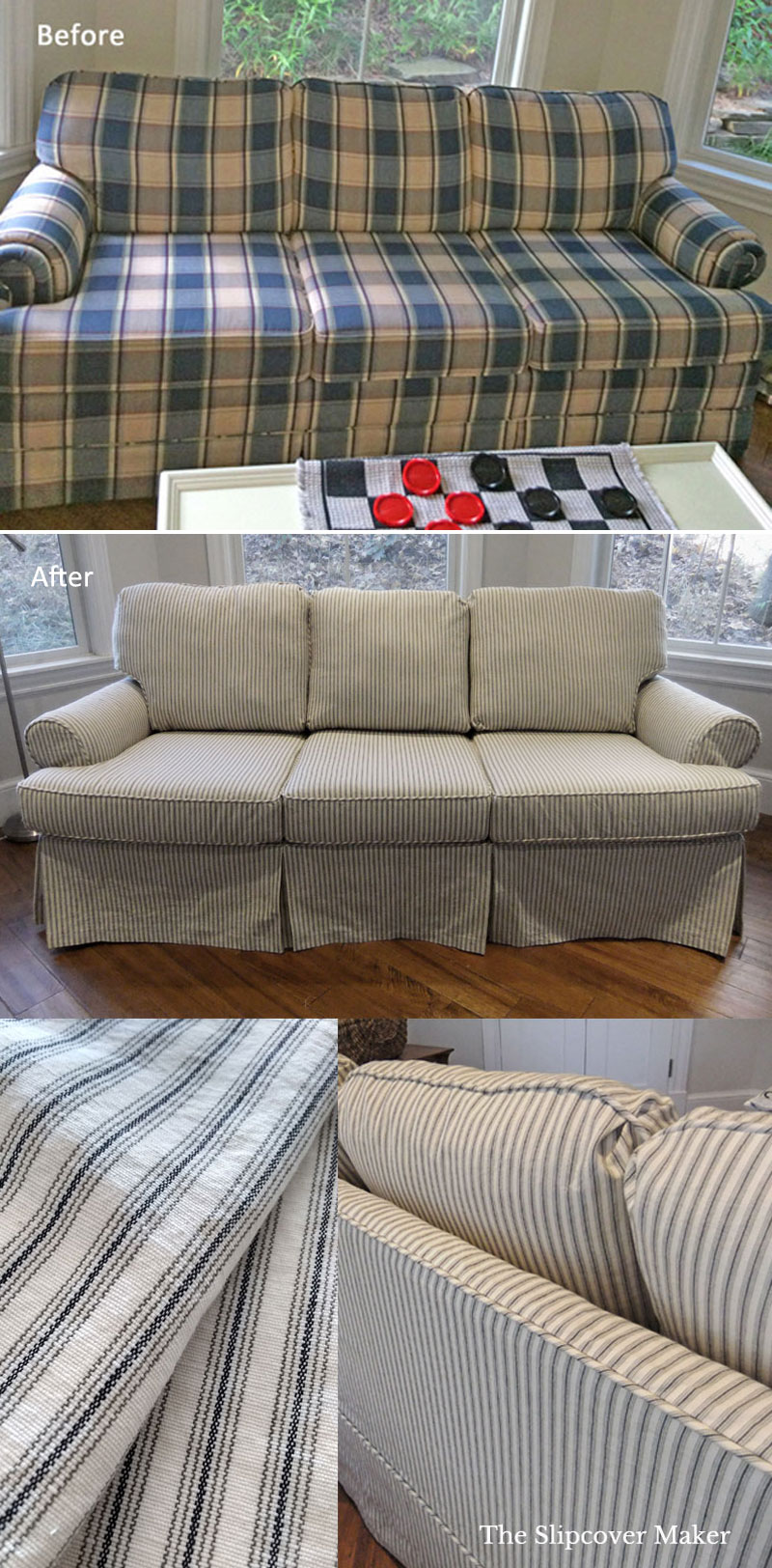 Grey Sofa Slipcover Sofa Slipcovers The Slipcover Maker