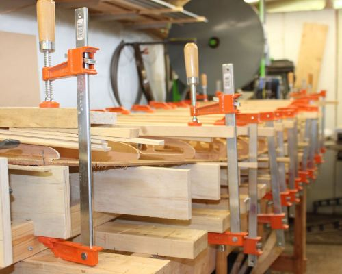 How to build a wood paddleboard - rocker table close-up