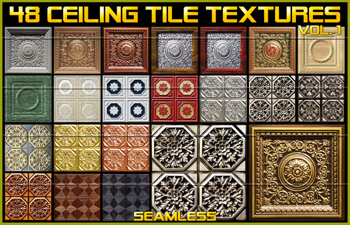 Second Life Marketplace 48 Ceiling Tile Textures