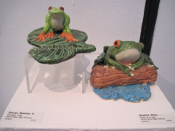 Frog Sculptures from 44th High School Portfolio Competition