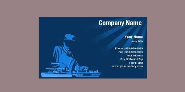 25 DJ Business Cards DJ Business Card Collection