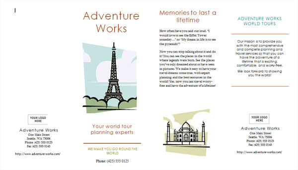 30 Killer Travel Brochure Template Designs - Vacation Brochure Template
