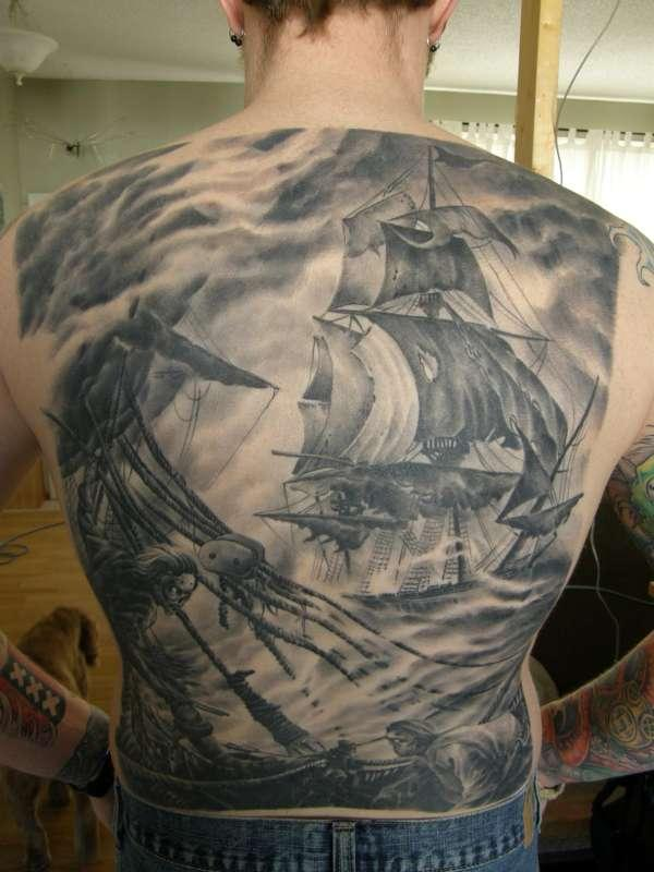 Funny Tattoo On Chest For Men Cool Tattoo rough seas tattoo 40 Cool Tattoos For Guys You Would Love To Have x