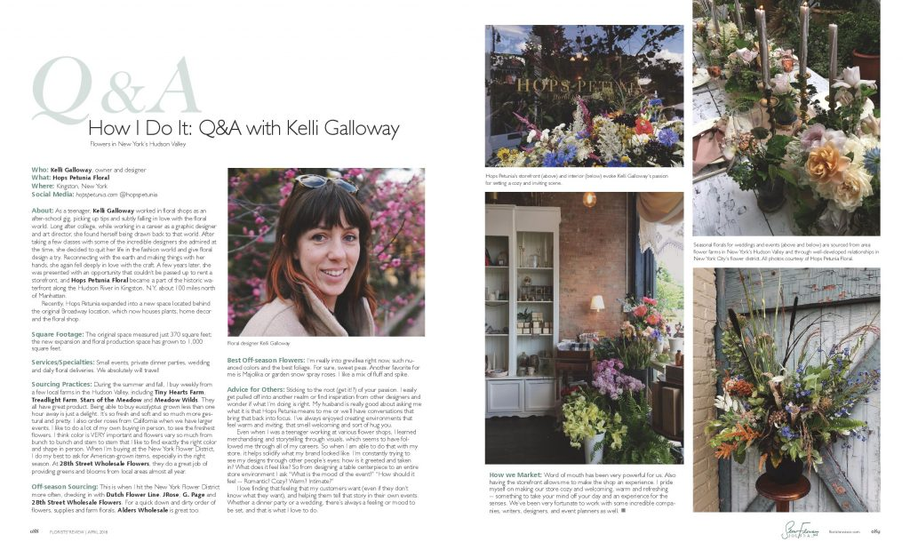 April 2018 Issue Slow Flowers Journal in Florists\u0027 Review