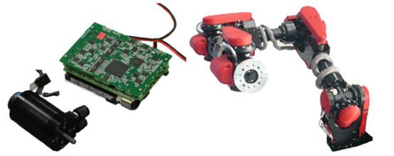 SCHAFT에서 개발한 수랭(水冷)식 모터 시스템. 연구진은 물을 이용해 모터를  냉각함으로써 고출력 모터의 최대 걸림돌이던 발열문제를 해결하였다. (출처:http://spectrum.ieee.org/automaton/robotics/humanoids/japanese-schaft-robot)