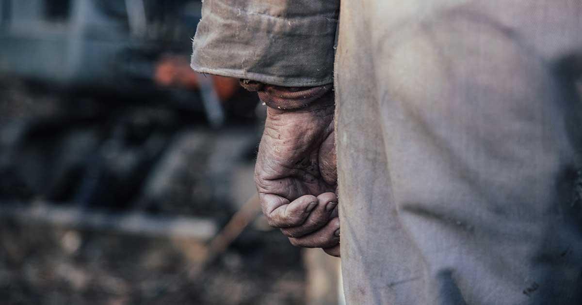 노동자의 손