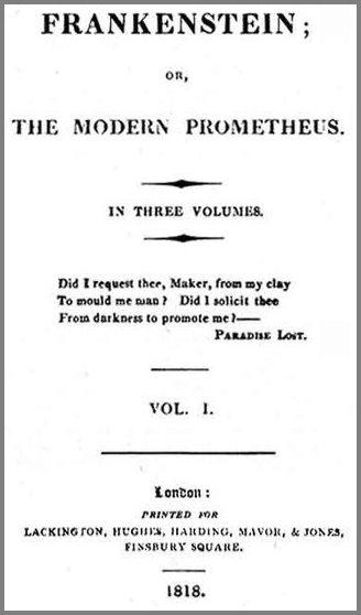 1818년 출간된 첫 번째 [프랑켄슈타인]판본 소개