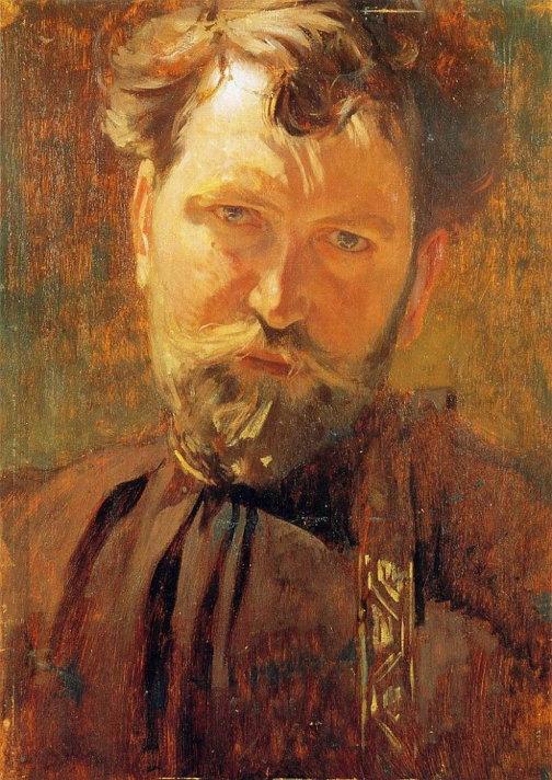 알폰스 무하(1860-1939), 자화상, 1899년
